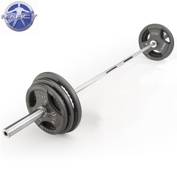 Marcy 100kg Olympic Weight Plate Set With 6ft Olympic Barbell
