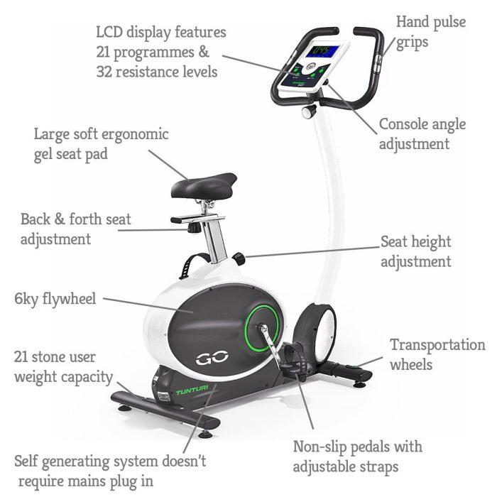 Tunturi Go Bike 70 Upright Exercise Bike