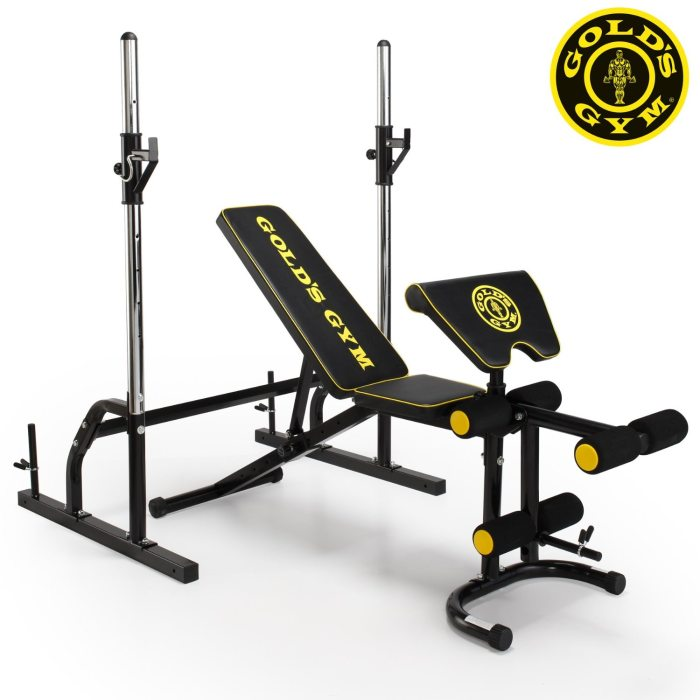 Golds Gym Deluxe Maxi Weight Bench With Power Rack