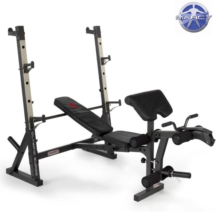 Marcy Diamond Elite Olympic Bench With Squat Rack