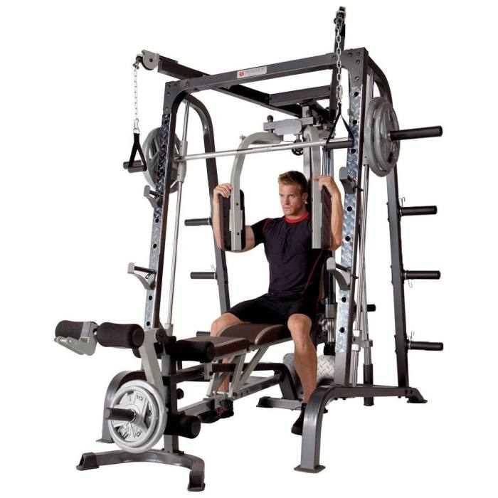 When buying a Smith Machine look for one that makes the best use of space and suits your needs