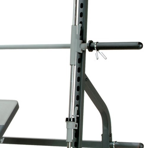 Safety catches and blocks help add the element of safety to using heavy weights in Smith Machines