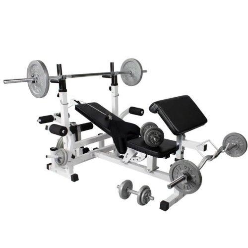 Universal Workstation with 108Kg Cast Iron Weight Set