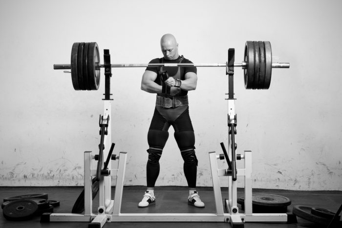 Take the time to focus on every part of the squat movement, even the un-racking of the weight and steps backwards.