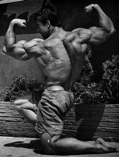 The first Mr. Olympia, Larry Scott