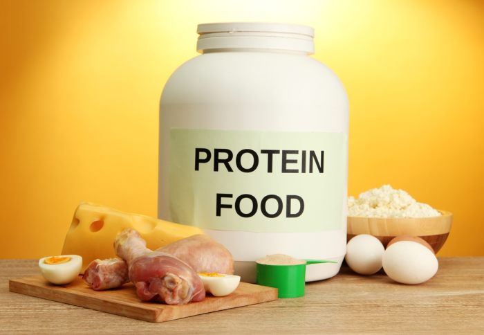The best meal plan for the day will include both protein shakes and foods that are naturally high in protein such as eggs and chicken