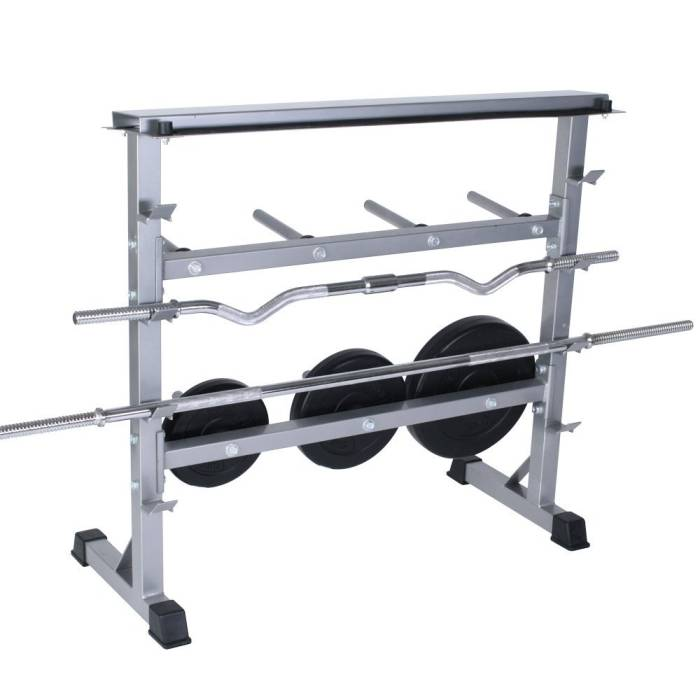 Generous amounts of storage for barbells dumbbells and weight plates  sc 1 st  Muscle Fitness and Nutrition & Universal Barbell Dumbbell Weight Rack