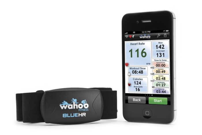 Wahoo Blue HR Bluetooth Heart rate belt for iPhone 4S