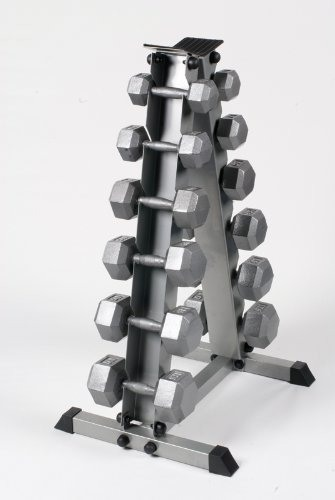 Bodypower Hex Dumbbell Set & Rack 5-17.5Kg