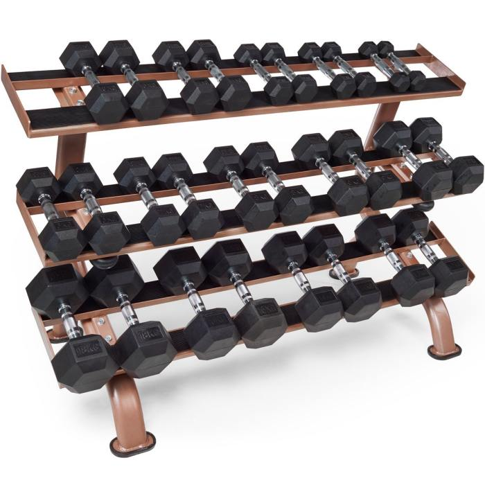Tunturi Platinum Dumbbell Set With Rack – 230kg