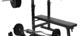 Gorilla Sports Weight Bench with 100Kg weight set