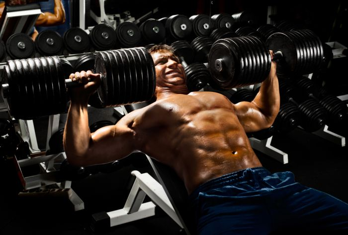 Dumbbell presses are an excellent way for fixing strength imbalances in your triceps and chest