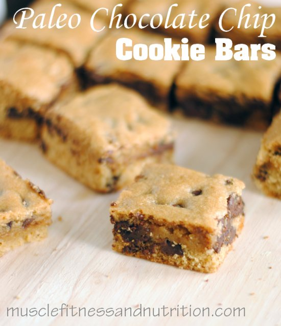 How to Make Chocolate Chip Paleo Bars - Ingredients & Simple directions! - www.musclefitnessandnutrition.com