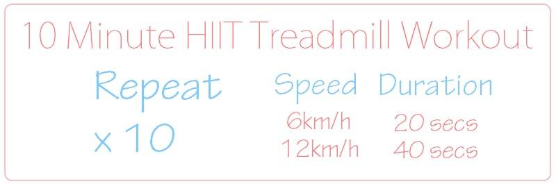 Intermediate 10 Minute HIIT Treadmill Workout