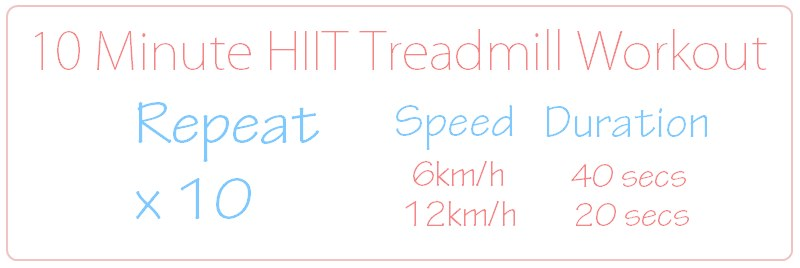10 Minute HIIT Treadmill Workout