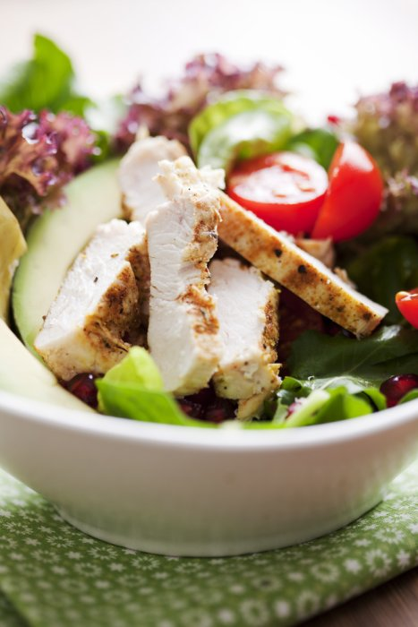 Chicken salad is an excellent, low-carb way to refuel your body after a HIIT cardio workout
