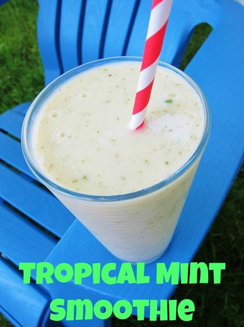 Tropical Mint Smoothie by Carrots N Cake
