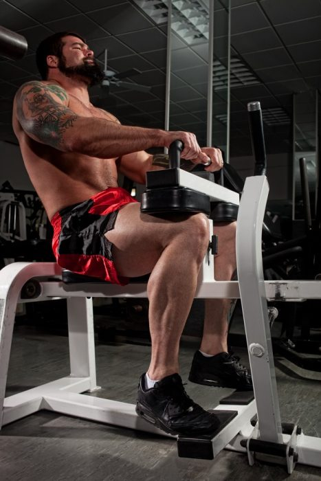 Training calf muscles with biceps would be a less conventional form of superset