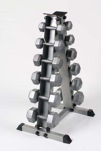 Bodypower Hex Dumbbell Set & Rack 5-17.5Kg