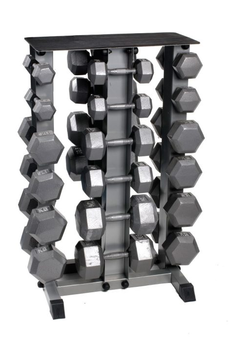 Bodypower Hex Dumbbell Set & Rack 5-30Kg