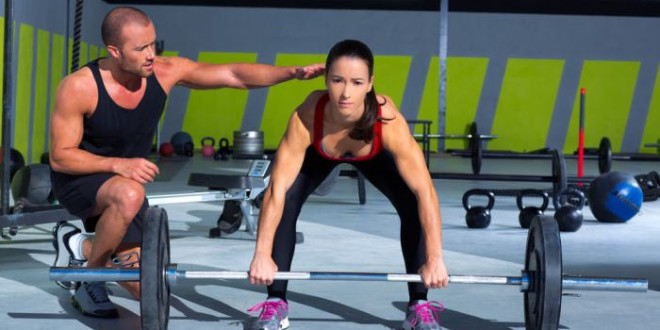 Bent over barbell rows