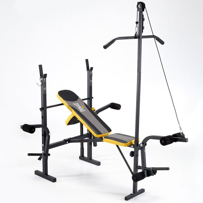 Everlast EV120 Starter Weight Bench with Lat Pulldown
