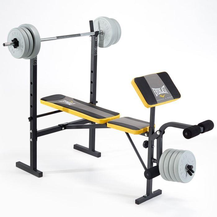 Everlast EV115 Starter Weight Bench with 30kg Vinyl Weight Set
